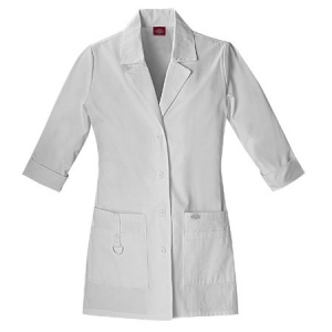 Dickies Womens Fashion Lab Coat 30 inch - White - 82402