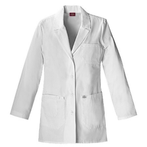 Dickies Womens Fashion Lab Coat 30 inch - White - 82403
