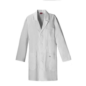 Dickies Unisex IPad Pocket Lab Coat  - White - 83404