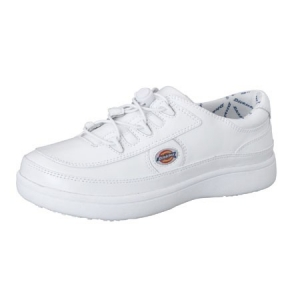 Dickies Unisex Leather Step In Shoes - White - BREAKTIME