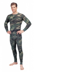 Rothco Mens Thermal Underwear Top - Woodland Camo - 6100