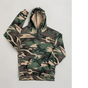 Rothco Woodland Camo Pullover Hooded Sweatshirt - 6590