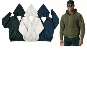 Rothco Thermal-lined Zipper Hooded Sweatshirts - 6260