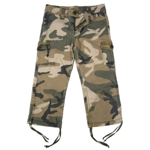 Rothco Girls Subdued Woodland Camo Vintage Capri Pants - 2041