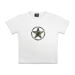 Rothco Girls White Star T-Shirt - 8360