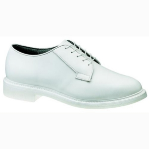 Bates Footwear Mens Lites White Leather Oxford - White - E00131
