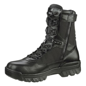 Bates Footwear Mens 8 inch Composite Safety-Toe Side Zip Boots - Black - E02263