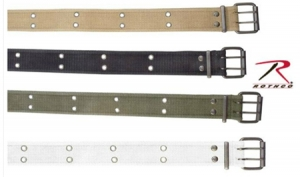 Rothco Vintage Belt with Double Prong Buckle-Black, Khaki, Olive Drab - 4171