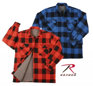 Rothco Extra Heavyweight Brawny Sherpa-Lined Flannel shirts - 3739