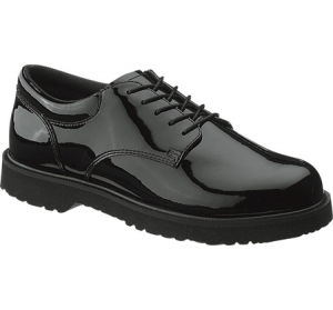 Bates Footwear Womens High Gloss Duty Oxford - Black - E22741