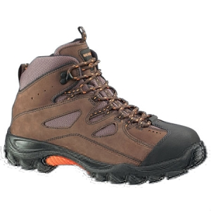 Wolverine Mens Hudson Mid Cut Steel Toe Electrical Hazard Slip Resistant Hiker - Brown - W02194