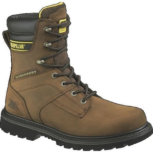 Cat Footwear Mens Salvo 8 Inch Waterproof Steel Toe Boots - Brown - P89785