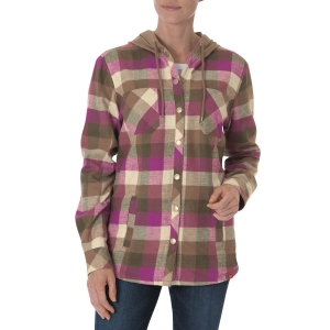 Dickies Womens Flannel Shirt Jacket - Pink Berry/Pebble Plaid - FJ451
