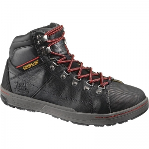 Cat Footwear Mens Brode Hi Steel Toe Work Boots - Black - P90189