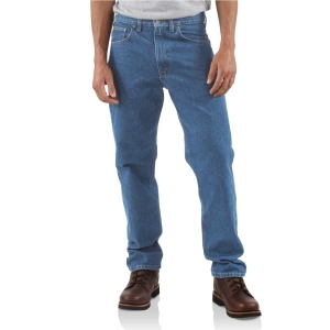 Carhartt Mens Traditional Fit Tapered Leg Jeans - B18
