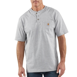Carhartt Mens Workwear Pocket Short-Sleeve Henley Shirt - K84